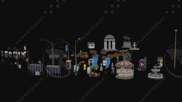 3D motion city model