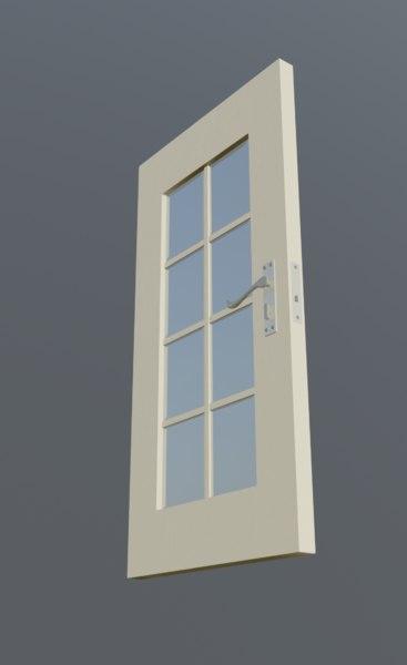 glass door 3D