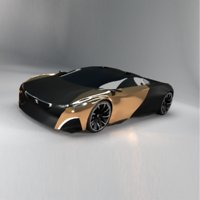 Supercars Peugeot Onyx concept without an Interior