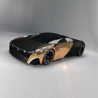 supercars peugeot onyx concept car 3D model