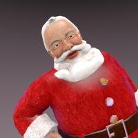 3D santa claus christmas
