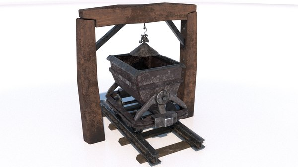 gameready pbr trolley 3D model