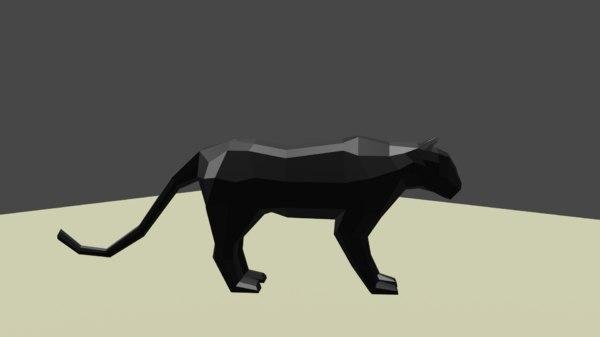 3D animsl cat