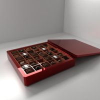 3D model shell chocolate