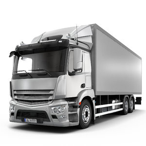 3D delivery truck 6x2 model