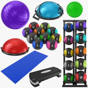 3D yoga mat ball model