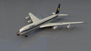 b707 commercial aircraft 3D model
