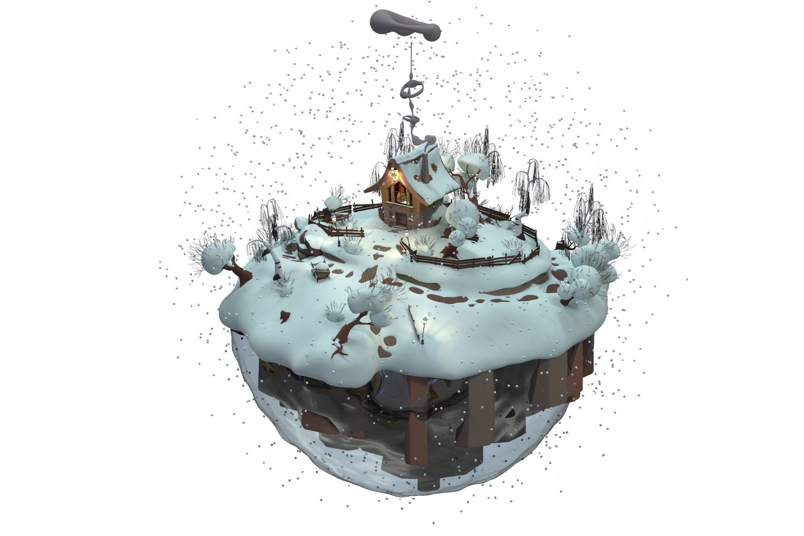 cartoon klaus scene 3D model