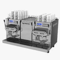 3D nespresso aguila 420 coffeemaker