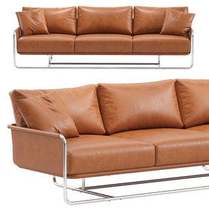 3-seat leather sofa model