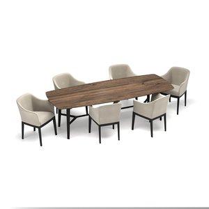 interior table chair 3D