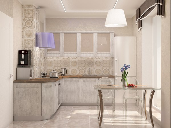 kitchen apartment furniture 3D