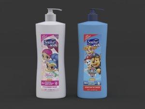 suave kids shampoo conditioner 3D model
