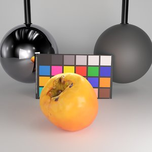 3D persimmon pbr redshift