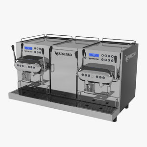 3D nespresso aguila 420 coffeemaker model