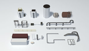 3D industrial scenery model