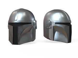 3D mandalorian helmet