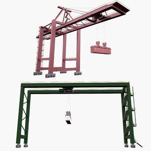 3D container crane rtg