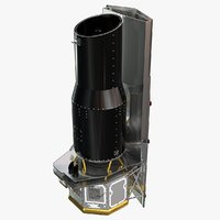 spitzer space telescope nasa 3D model