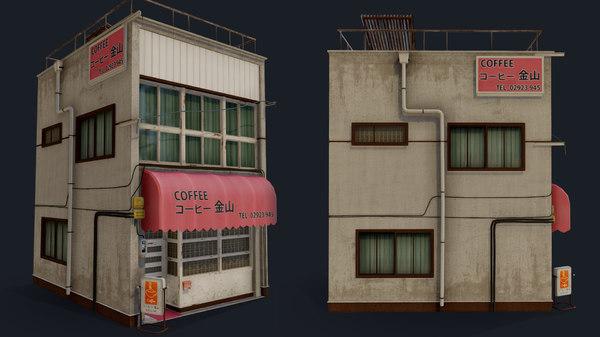 coffee shop kanayama 3D