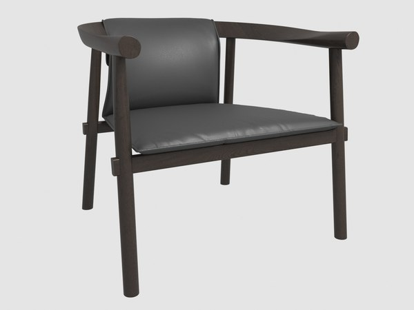 atlay leather armchair model