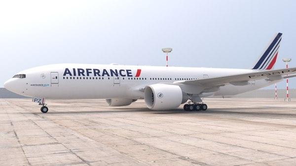 boeing 777 air 3D model