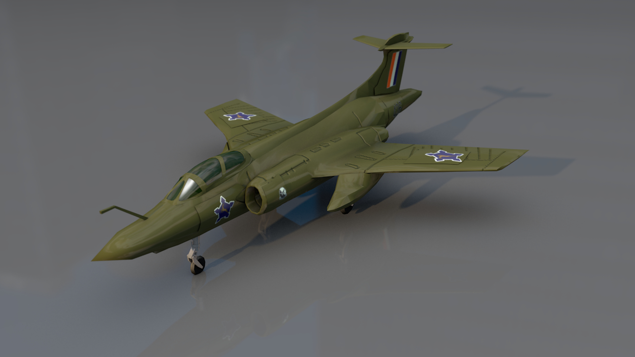 3D blackburn buccaneer 52b aircraft