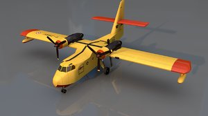 grumann canadair firefighting aircraft 3D