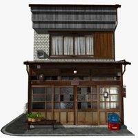 3D old cafe