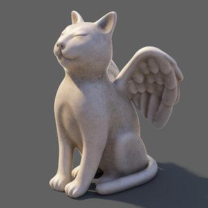 wing cat statue 3D model
