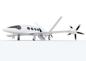 electric aircraft alice eviation 3D