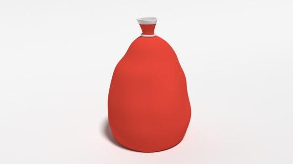 santa claus bag cartoon 3D
