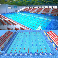 3D olympic sport swimming pool