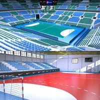 3D handball arena stadium model