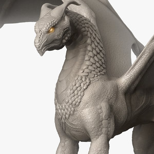 3D dragon creature monster animal character