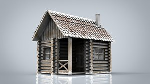 3D winter cabin model