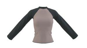 raglan shirt 3D model