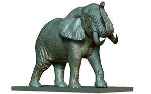 3D model elephant printing