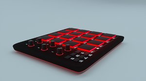 akai midi controller 3D