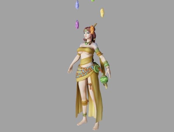 3D girl magic