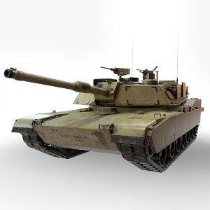 m1a1 abrams tank model