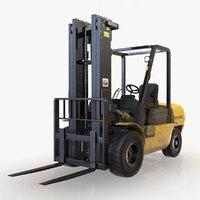 Forklift Truck  - Low Poly 3D Model