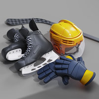 3D model hockey equipment