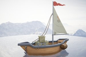 hand-painted sail 3D model
