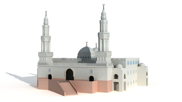 3D model masjid al qiblatayn