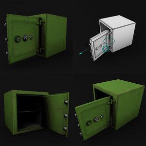 3D model rigged safe games
