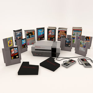 3D retro nintendo entertainment nes