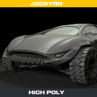 futuristic road vehicle 3D