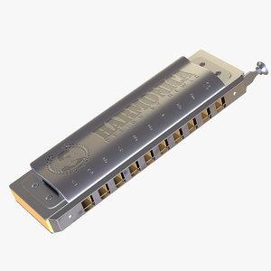 3D harmonica instrument