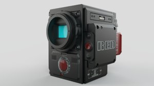 3D model camera red heliun 8k